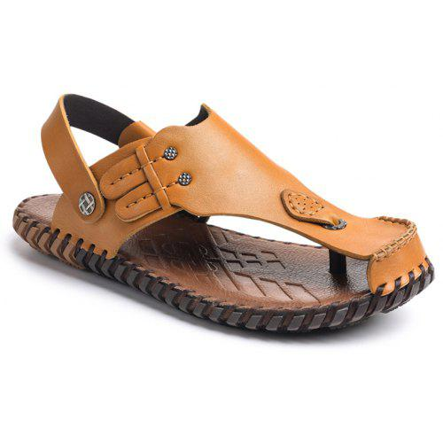 b02082088817 Summer Cool Comfortable Full Grain Genuine Leather Men Sandals -  36.89  Free Shipping