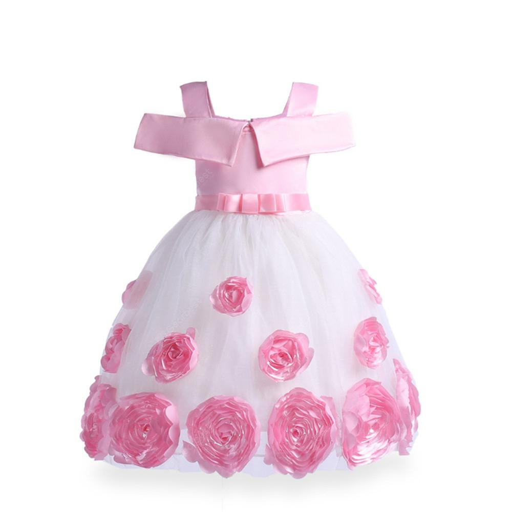 Autumn Winter Baby Girls Christmas Party Lace Tutu Dress Rose Embroidery Costume Princess Clothes For Girl Wear Vestido