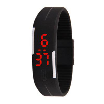 Silicone Rubber Gel Jelly Unisex LED Wrist Watch Bracelet