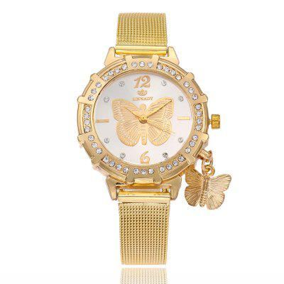 Фото 2018 New Fashion Female Clocks Women Luxury Quartz Watch gold Stainless Steel dress Watches