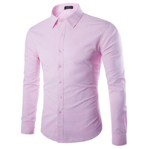 35083367f38 New Fashion Color All-Match Business Mens Long Sleeve Shirt ...