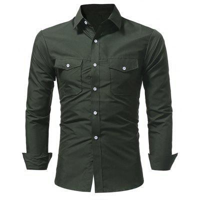 New Classic Double Pocket Casual Long Sleeved Shirt