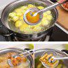 Stainless Steel Strainer Kitchen Filter Mesh Spoon Fried Food Oil Strainer Clip - SILVER