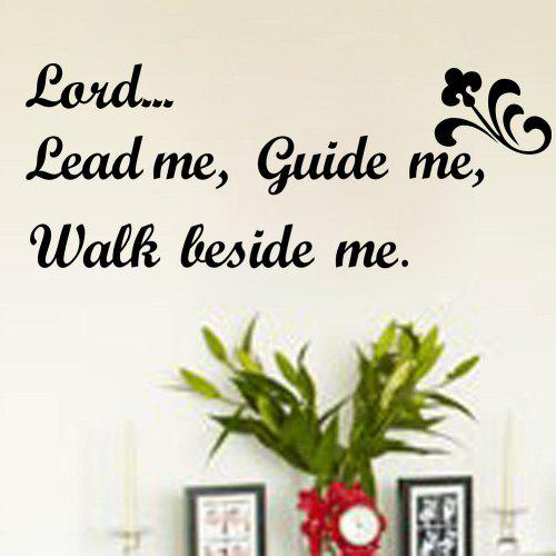 dsu christian quotes wall sticker lord lead me guide me walk beside