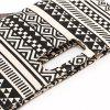 Black and White Geometric Pattern Canvas Hand Bag Lady's Clutch Bag - BLACK WHITE