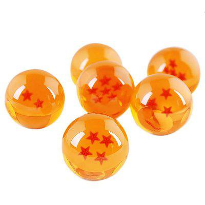 3.5CM 7 Stars Crystal Balls Set 7PCS