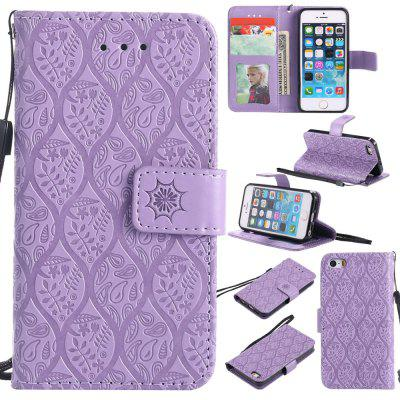 Case for iPhone 5 / 5s / SE Flip Wallet PU Leather High Quality Book Stand Card Slot Phone Cover stylish patterned flip open glow in the dark pu case w holder card slot for iphone 5 5s 5c page 10