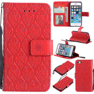 Custodia per iPhone 5 / 5s / SE Flip Wallet Custodia in pelle per iPhone