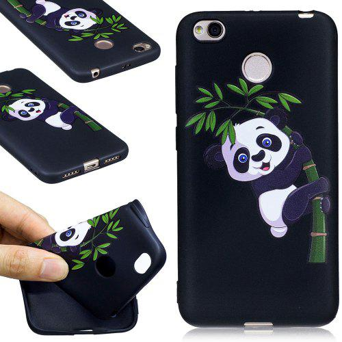 f19bd3893342 Relief Silicone Case for Xiaomi Redmi 4X Bamboo Panda Pattern Soft TPU  Protective Back Cover