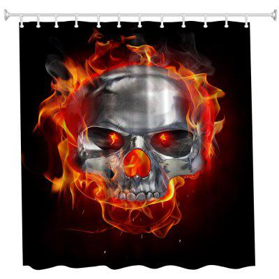 The Silver Skull Polyester Shower Curtain Bathroom Curtain High Definition 3D Printing Water-Proof music score bathroom shower curtain