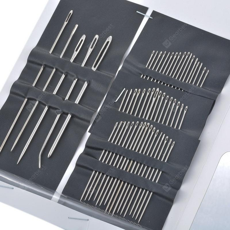 Professional Stainless Steel Sewing Needle 55 Pcs - SILVER