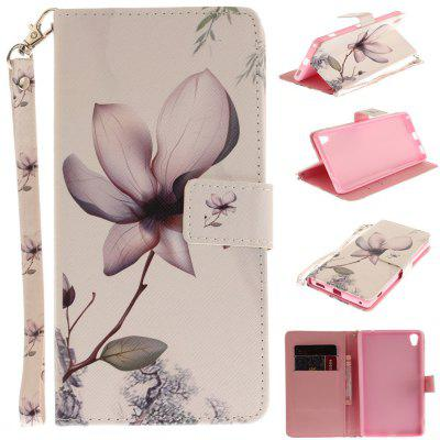 Cover Case for Sony XA Ultera C6 Magnolia PU+TPU Leather with Stand and Card Slots Magnetic Closure