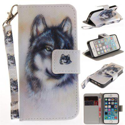 Cover Case for IPhone 5 5S SE Wolf PU+TPU Leather with Stand and Card Slots Magnetic Closure free shipping new 10 1 original stand magnetic leather case cover for lenovo ibm thinkpad 10 tablet pc with sleep function