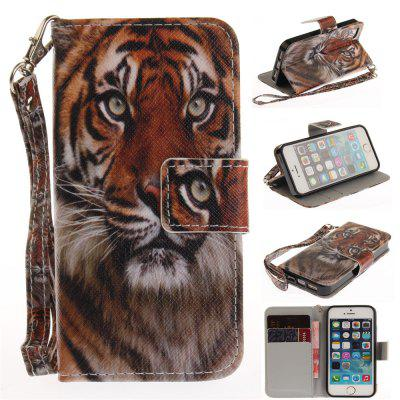Cover Case for IPhone 5 5S SE Manchurian Tiger PU+TPU Leather with Stand and Card Slots Magnetic Closure free shipping new 10 1 original stand magnetic leather case cover for lenovo ibm thinkpad 10 tablet pc with sleep function