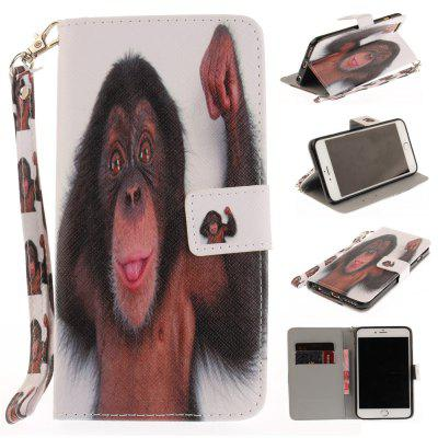 Cover Case for IPhone 6 6S Monkey PU+TPU Leather with Stand and Card Slots Magnetic Closure free shipping new 10 1 original stand magnetic leather case cover for lenovo ibm thinkpad 10 tablet pc with sleep function