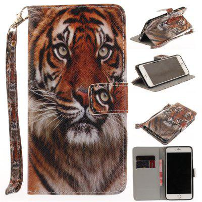 Cover Case for IPhone 6 6S MANCHURIAN Tiger PU+TPU Leather with Stand and Card Slots Magnetic Closure