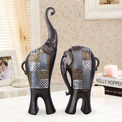 Resin Crafts Black Wood Grain Lovers Elephant Wedding Gift 64333 0100[112ckt 3 pocket cmc hdr solder tail]