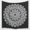 Black and White Mandala 3D Digital Printing Home Wall Hanging Nature Art Fabric Tapestry for Bedroom Living Decorations - COLORMIX