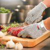 High Performance Level 5 Protection Food Grade Kitchen Hand Safety Cut Resistant Gloves 1 Pair - BATTLESHIP GRAY