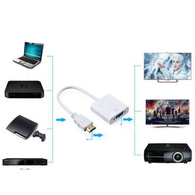 HDMI To VGA 3.5MM Audio Cable Converter Adapter