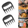 High Quality 2PCS Grizzly Claw Meat Processor Fork Pincers Pull Pork Pork Grill Bear Claw Talons Fork Torn Meat Tools - BLACK