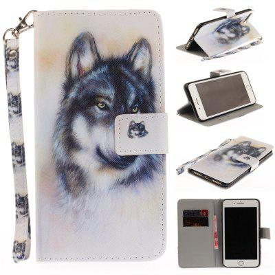 Cover Case for IPhone 7 Plus Wolf PU+TPU Leather with Stand and Card Slots Magnetic Closure free shipping new 10 1 original stand magnetic leather case cover for lenovo ibm thinkpad 10 tablet pc with sleep function