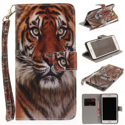 Cover Case for IPhone 7 Plus Manchurian Tiger PU+TPU Leather with Stand and Card Slots Magnetic Closure free shipping new 10 1 original stand magnetic leather case cover for lenovo ibm thinkpad 10 tablet pc with sleep function