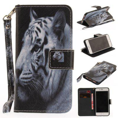 Cover Case for IPhone 7 The White Tiger PU+TPU Leather with Stand and Card Slots Magnetic Closure free shipping new 10 1 original stand magnetic leather case cover for lenovo ibm thinkpad 10 tablet pc with sleep function