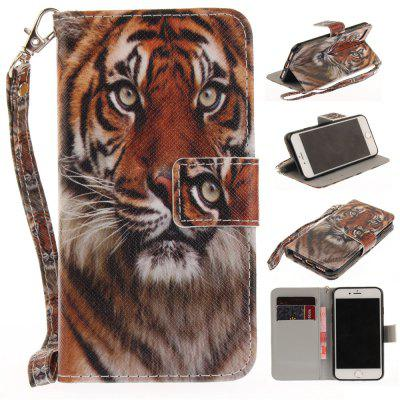 Cover Case for IPhone 7 Manchurian Tiger PU+TPU Leather with Stand and Card Slots Magnetic Closure free shipping new 10 1 original stand magnetic leather case cover for lenovo ibm thinkpad 10 tablet pc with sleep function