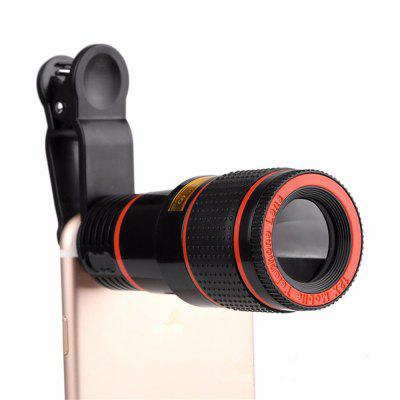 12X Zoom Optical Mobile Phone Telephoto Camera Lens with Clip