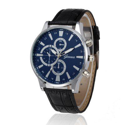 Fashion Date Watch With Men'S Leather Watch Business Casual Watches