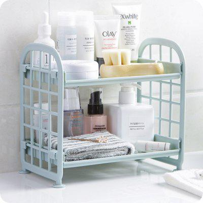 Lasperal Multifunction Double Layer Sundries Storage Holder Rack for Kitchen Bathroom Desktop Makeup Organizer Display