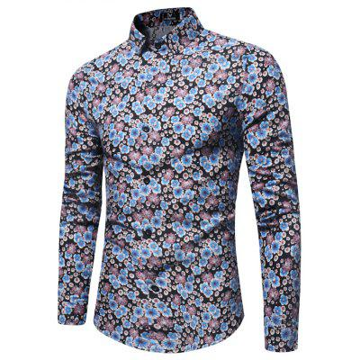 Spring New Men's Casual Floral Shirt