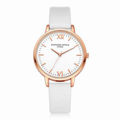 Lvpai P081-R Fashion Women Watch Leather Band Wrist Watches Rose Gold Tone dom fashion quartz women watch rhinestone leather casual dress watches rose gold ladies clock relogio feminino montre femme