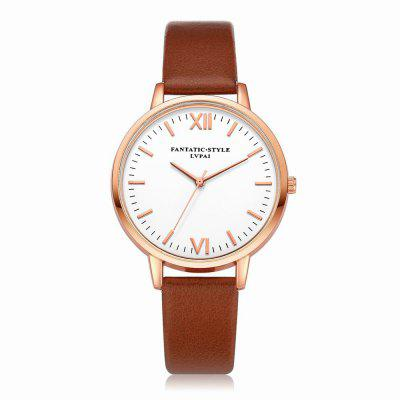 Lvpai P081-R Fashion Women Watch Leather Band Wrist Watches Rose Gold Tone maikes watch accessories 16mm 18mm 20mm 22mm watch band genuine leather watch strap fashion green for gucci women watchbands