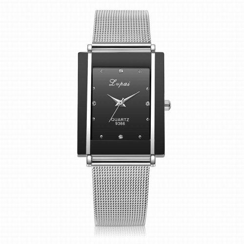 Lvpai P140 Women Metal Band Rectangle Case Quartz Watches - PHP462 ... 58e5a005be1a