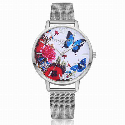 Lvpai P154 Women Metal Band Butterfly and Flowers quartz Watches