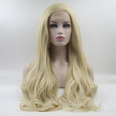 16 - 24 Inch Yellow Long Wavy Style Handmade Heat Resistant Synthetic Hair Wigs for Women