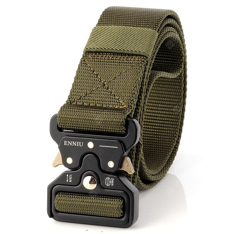 ENNIU Multi-Function Quick-release Military Style Shooters Nylon Tactical  Belt with Metal Buckle