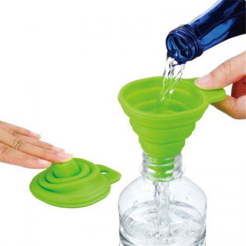 Silicone Folding Telescopic Long Neck Funnel Creative Household Liquid Dispensing Mini Kitchen Tools