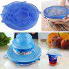 6PCS Universal Silicone Food Wrap Lid-Bowl - BLUE