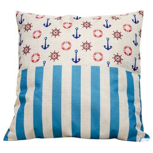 Peachy Ocean Boat Spear Beach Cotton Pillowcase Sofa Car Lumbar Cushion Decorative Office Four Seasons Fabric Evergreenethics Interior Chair Design Evergreenethicsorg