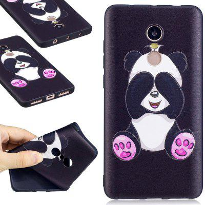 Relief Silicone Case for Xiaomi Redmi Note 4 / 4X 64GB Panda Pattern Soft TPU Protective Back Cover