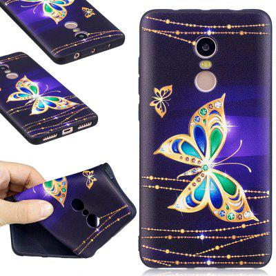 Relief Silicone Case for Xiaomi Redmi Note 4 / 4X 64GB Butterfly Pattern Soft TPU Protective Back Cover