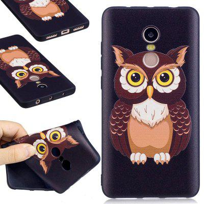 Relief Silicone Case for Xiaomi Redmi Note 4 / 4X 64GB Owl Pattern Soft TPU Protective Back Cover