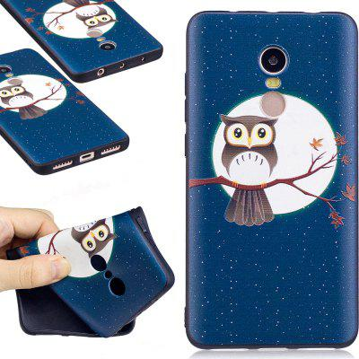 Relief Silicone Case for Xiaomi Redmi Note 4 / 4X 64GB Moon Owl Pattern Soft TPU Protective Back Cover