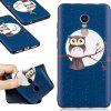 Relief Silicone Case for Xiaomi Redmi Note 4 / 4X 64GB Moon Owl Pattern Soft TPU Protective Back Cover - BLUE