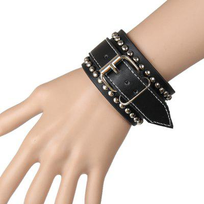Europe and The United States Trend of Non-Mainstream Twists Large Rivet Leather Bracelet