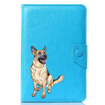 Universal Lovely Cute Dog PU Leather Stand Cover Case For 10.1 Inch new plush gray akita dog toy lovely cute fat sitting akita dog doll gift about 45cm
