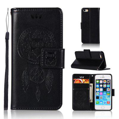Owl Campanula Fashion Wallet Cover For iPhone 5/SE/5S Phone Bag With Stand PU Extravagant Retro Flip Leather Case
